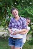 Pregnant girl Royalty Free Stock Image