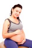 Pregnant gym Royalty Free Stock Photos