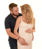 Pregnant happy couple Stock Images