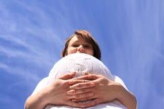 Pregnant happy girl Royalty Free Stock Photos