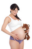 Pregnant and happy Stock Photo