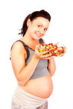 Pregnant, healthy food Stock Image