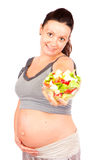 Pregnant healthy food Stock Photography