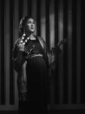 Pregnant Hollywood woman royalty free stock photo