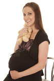 Pregnant hug bear Stock Images