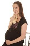 Pregnant hug bear Stock Images