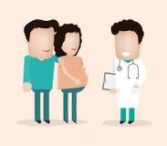 Pregnant husband doctor Stock Photos