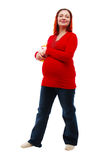 Pregnant Jeans Woman Stock Photos