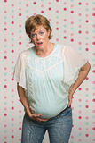 Pregnant Lady Having Contractions Royalty Free Stock Image