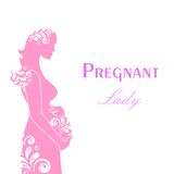 The pregnant lady Stock Images