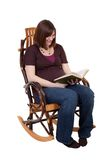 Pregnant Lady Reading Stock Photo