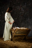 Pregnant Mary Contemplating Stock Images