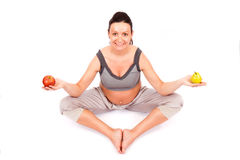 Pregnant meditation Stock Photos