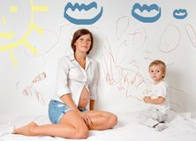 Pregnant mother Royalty Free Stock Photos