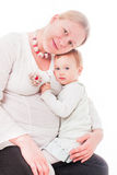 Pregnant mother with daughter Royalty Free Stock Photos