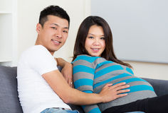 Pregnant mother and father Stock Images