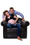 Pregnant mother and happy father Stock Photo