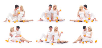 Pregnant mother and loving father (collection) Stock Photography