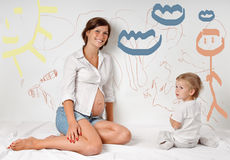 Pregnant mother Royalty Free Stock Images