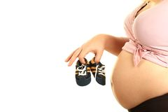 Pregnant parent Royalty Free Stock Photography
