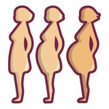Pregnant period icon, cartoon style. Pregnant period icon. Cartoon illustration of pregnant period vector icon for web design Stock Images