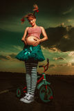 Pregnant Pippi Longstocking Royalty Free Stock Photo