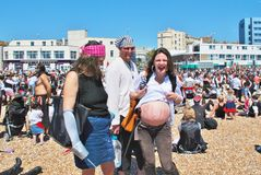 Pregnant Pirate, Hastings Stock Photos