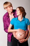 Pregnant pregnant couple Stock Images