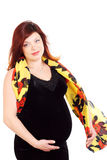The pregnant red-haired woman Stock Photography