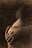 Pregnant retro look Stock Image
