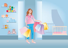 Pregnant shopping Royalty Free Stock Photography