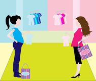 Pregnant Shopping Woman Royalty Free Stock Images