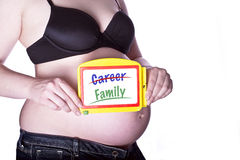 Pregnant Sign Family Royalty Free Stock Images