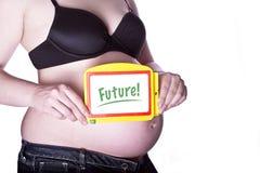 Pregnant Sign Future Stock Photos