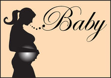 Pregnant silhouette Royalty Free Stock Photos