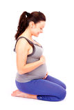 Pregnant smile Stock Image
