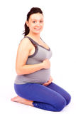 Pregnant smile Royalty Free Stock Images