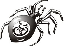 Pregnant spider 2 royalty free illustration
