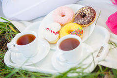 Pregnant sweets tea Stock Image