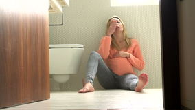 Pregnant Teenage Girl Suffering From Morning Sickness stock video
