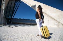 Pregnant traveller Stock Image