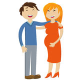 Pregnant wife and happy husband Royalty Free Stock Images