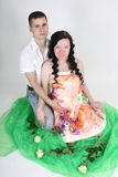 Pregnant wife and her husband Royalty Free Stock Image