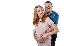 Pregnant wife and her husband Stock Images