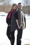 Pregnant wife and husband Royalty Free Stock Photography