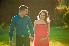 Pregnant wife Royalty Free Stock Photo