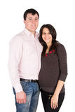 Pregnant wife, a woman with her husband Royalty Free Stock Images