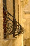 Pregnant Window. Weathered pregnant window wrought iron. Mdina, Malta Royalty Free Stock Photography