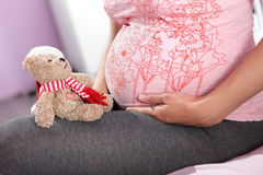 Pregnant woman. Royalty Free Stock Images