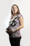 Pregnant woman. Hanging a stomack Stock Photo